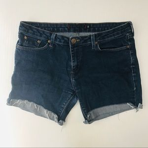 BDG Fringe Denim Jean Shorts